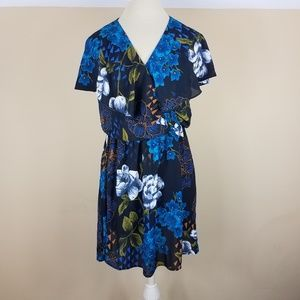 4/$25 Everly Blue Floral Dress
